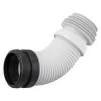 WC-Anschluß Abfluß weiß weiss WC-Abfluß Länge von 230 bis 450 mm flexibel Anschlussdurchmesser 90×100/120 mm