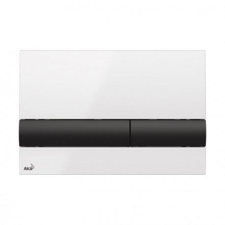 Drückerplatte für WC Vorwandelemente WC-Spüle Farbe Weiss/ Schwarz 3L/6L Betätigungsplatte Platte Betätigungstaste