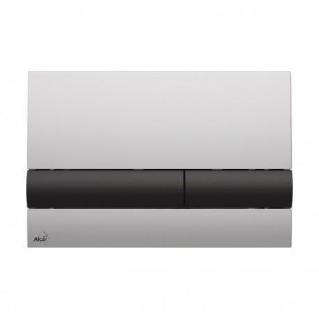 Drückerplatte für WC Vorwandelemente WC-Spüle Farbe Chrom Matt/ Schwarz 3L/6L Betätigungsplatte Platte Betätigungstaste