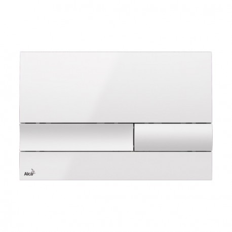 Drückerplatte für WC Vorwandelemente WC-Spüle Farbe Weiß/ Weiß 3L/6L Betätigungsplatte Platte Betätigungstaste