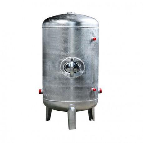 Druckbehälter 100 bis 500L 6 bar senkrecht verzinkt  Druckkessel verzinkt für Hauswasserwerk senkrecht
