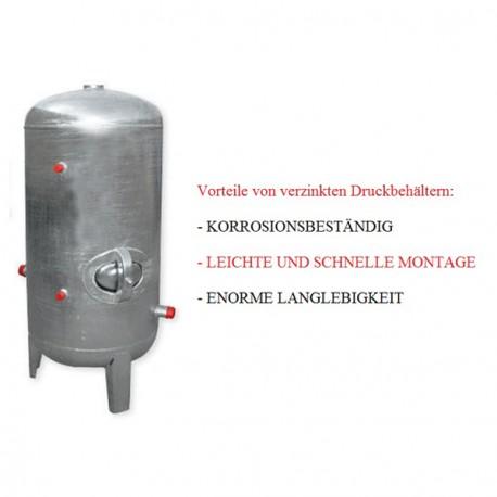 Bekannt Druckbehälter 100 bis 500L 6 bar senkrecht mit Zubehör verzinkt IU69