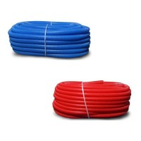 Wellrohr Leerrohr 18/22 blau, rot für Alu-Verbundrohr oder kabel UVP