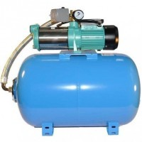 Wasserpumpe 150 l/min 2,4 kW 230V inkl. 50 bis 100 L Druckkessel Jetpumpe Gartenpumpe Hauswasserwerk Kreiselpumpe
