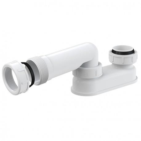 """Geruchsverschluss für Ab Überlaufgarnitur 6/4"""" Badewanne Siphon Sifon Syfon Extra Flach Flachsiphon"""