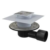 Bodenablauf Waagerecht Duschablauf Badablauf Edelstahl begehbare Dusche DN 50/75 Siphon Geruchsverschluss