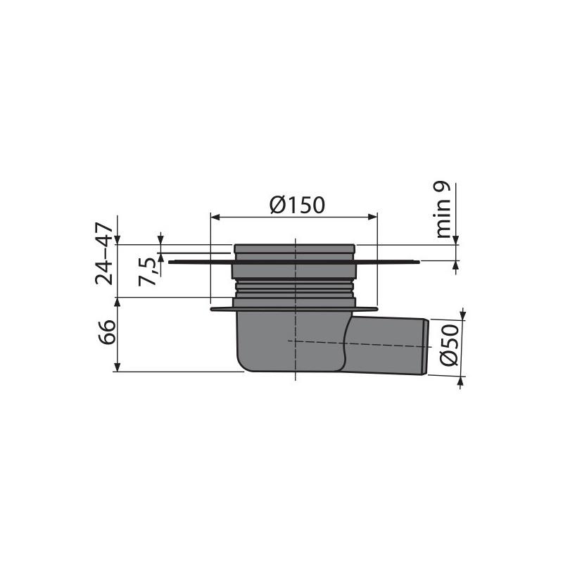 bodenablauf waagerecht duschablauf badablauf edelstahl begehbare dusche dn 62l min flach siphon. Black Bedroom Furniture Sets. Home Design Ideas