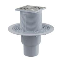 Bodenablauf Senkrecht 105X105/50/70 Duschablauf Badablauf Edelstahl begehbare Dusche  Flach Siphon Geruchsverschluss