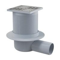 Bodenablauf Waagerecht 105/50 Duschablauf Badablauf Edelstahl begehbare Dusche Siphon Geruchsverschluss