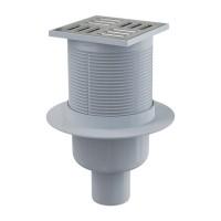 Bodenablauf Senkrecht 105/50 Duschablauf Badablauf Edelstahl begehbare Dusche Siphon Geruchsverschluss