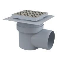 Bodenablauf Waagerecht 150X150 DN110 Duschablauf Badablauf Edelstahl begehbare Dusche Siphon Geruchsverschluss