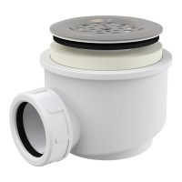 Dusche Ablaufgarnitur DN 60 Ablaufbogen Geruchsverschluss Siphon Sifon Duschtassse Garnitur rostfrei