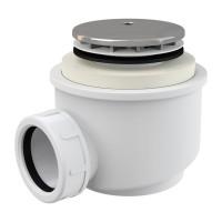 Dusche Ablaufgarnitur DN 50 Ablaufbogen Geruchsverschluss Siphon Sifon Duschtassse Garnitur Verchromt
