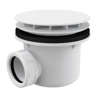 Dusche Ablaufgarnitur DN 90 Ablaufbogen Geruchsverschluss Siphon Sifon Duschtassse Garnitur Farbe Weiss