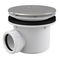 Dusche Ablaufgarnitur DN 90 Ablaufbogen Geruchsverschluss Siphon Sifon Duschtassse Garnitur Metallabdeckung Chrom glänzend