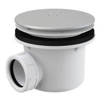 Dusche Ablaufgarnitur DN 90 Ablaufbogen Geruchsverschluss Siphon Sifon Duschtassse Garnitur Metallabdeckung Chrom matt