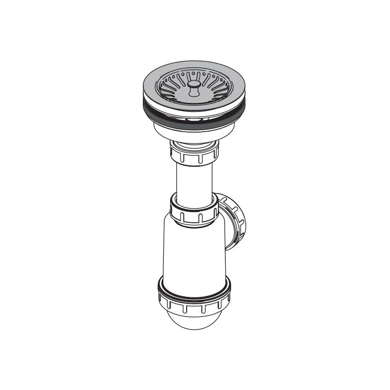 sp ltisch flaschen siphon rostfreies gitter dn 115 universal anschluss dn40 50 ablaufgarnitur. Black Bedroom Furniture Sets. Home Design Ideas