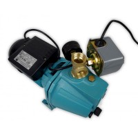 Wasserpumpe 60 l/min 1,1 kW 230V mit Druckschalter und Manometer Jetpumpe Gartenpumpe Hauswasserwerk Kreiselpumpe