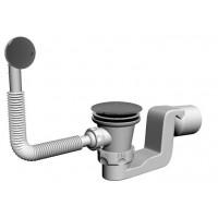 Badewanne Ablaufgarnitur Überlaufgarnitur Wannenablauf DN 50  Chrom  Push Up  51 l/min Siphon Geruchsverschluss