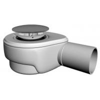 Dusche Ablaufgarnitur DN 50  Chrom  Push Up  60 l/min Ablaufbogen Geruchsverschluss Siphon Sifon Duschtassse Garnitur