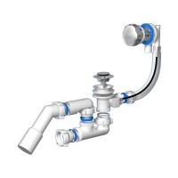 Badewanne Ablaufgarnitur Überlaufgarnitur Wannenablauf DN 50  Chrom 54 l/min Siphon Geruchsverschluss
