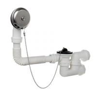 Badewanne Ablaufgarnitur Überlaufgarnitur Wannenablauf DN 50  54 l/min Stofpen Siphon Geruchsverschluss