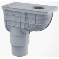 Regenrohrablauf  Regensinkkasten Waagerecht Dachrinnenablauf Regenwasser Einlaufdurchmesser Ø80-125mm Ablaufdurchmesser DN110 mm