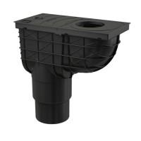 Regenrohrablauf Regensinkkasten Senkrecht Dachrinnenablauf Regenwasser Einlauf Ø80-125mm Ablauf DN110/125 mm