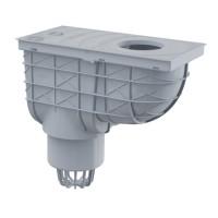 Regenrohrablauf  Regensinkkasten Senkrecht Dachrinnenablauf Regenwasser Einlaufdurchmesser Ø80-125mm Ablaufdurchmesser DN110 mm