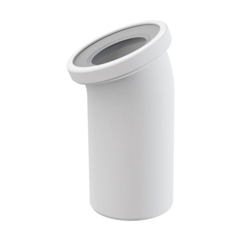 wc anschlu bogen 22 grad abflu wei weiss wc abflu abflussrohr wc verbindung f r toilette. Black Bedroom Furniture Sets. Home Design Ideas