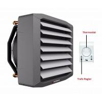 Lufterhitzer 0,7 bis 94 kW EUROVENT getestet Drehzahltraforegler Thermostat Heizregister Luftheizung Hallenheizung