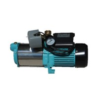 Wasserpumpe 100l/min 1300W Jetpumpe Gartenpumpe Druckschalter Kreiselpumpe Set