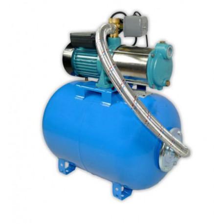 Wasserpumpe 1800W 150l/min  100l Druckbehälter Gartenpumpe Hauswasserwerk Set TOP
