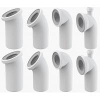 WC-Anschluß Bogen 22 45 90 Grad Abfluß weiß weiss WC-Abfluß Abflussrohr Toilette