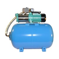 Wasserpumpe 130l/min 1,30kW 230V Druckkessel 100 L Hauswasserwerk Gartenpumpe Neu